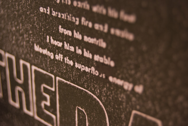 Sound – Letterpress book