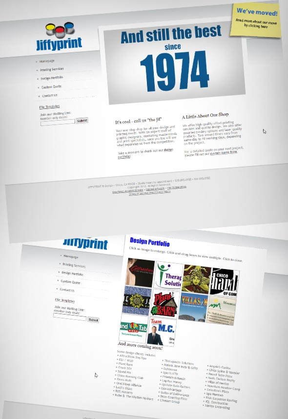 Jiffyprint Website